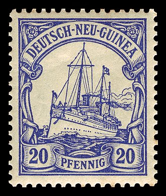 Postage stamps and postal history of the German colonies - Image: D Neu Guinea 1900 10