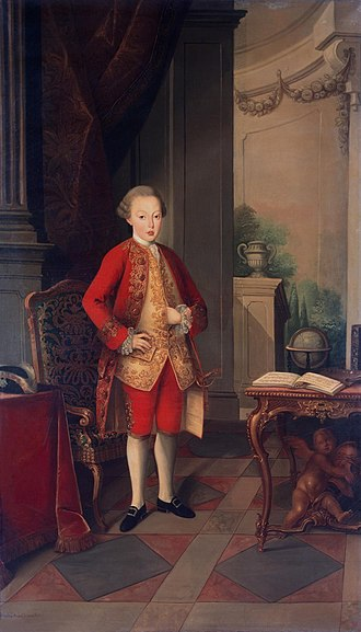 José, Prince of Brazil - Portrait at age 12 by Miguel António do Amaral, 1773