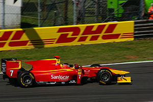 Dani Clos - Clos driving for Racing Engineering at the Monza round of the 2011 GP2 Series season.