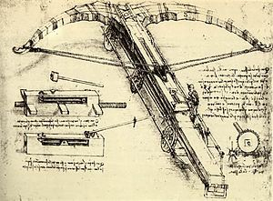 Crossbow - Sketch by Leonardo da Vinci, c. 1500