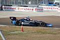 Dallara-Chevrolet DW12 KV-BMC Racing Ruebens Barrichello Morning Practice Rolling Turn1 SPGP 24March2012 (14513015540).jpg