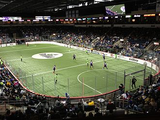 Indoor soccer - 2013 match between the Dallas Sidekicks and Texas Strikers at Allen Event Center
