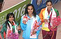 Damini Gowda (INDIA) won Gold Medal, Ridmi Rankothge won Silver Medal and Sonia Aktar (BANGLADESH) won Bronze Medal, in the Women's swimming 200m Butterfly category, at the 12th South Asian Games-2016, in Guwahati.jpg