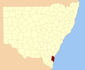 Dampier County - Location in New South Wales