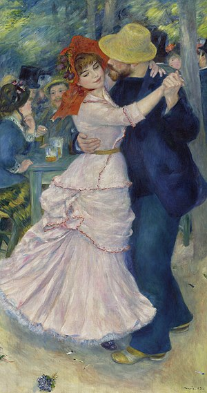 Suzanne Valadon - Dance at Bougival, by Renoir; the female dancer is Valadon.