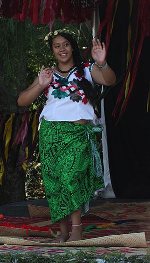 Women in Oceania - A Tuvaluan dancer at Auckland's Pasifika Festival