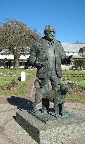 Rugby union and apartheid - Statue of Danie Craven in Stellenbosch.