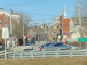 Danielson, Connecticut - Looking down Main St.