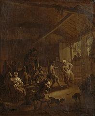 Paysans dansant dans un bar