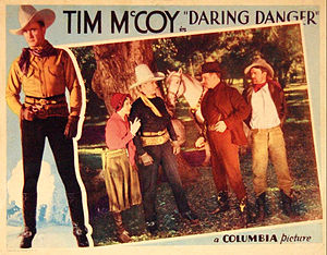 Tim McCoy - Lobby card for Daring Danger (1932)
