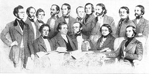 Vienna General Hospital - Professors of the Medical School, 1853