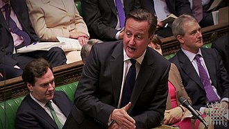 Prime Minister's Questions - David Cameron at the dispatch box, circa 2011