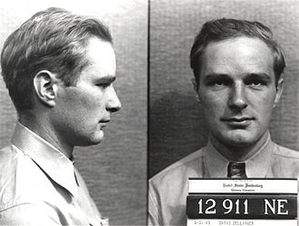 David Dellinger - Dellinger after his arrest for failing to report for his World War II draft physical (August 31, 1943)