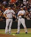 David Wright and Alex Cora on June 17, 2009.jpg