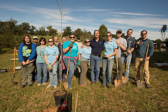Belmont Estate - Day of Service Tree Planting in 2012 at Belmont with Governor Martin O'Malley