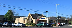 Days Inn - Days Inn, Ann Arbor, Michigan. It was first built as a Howard Johnson's, another brand of Wyndham Worldwide.