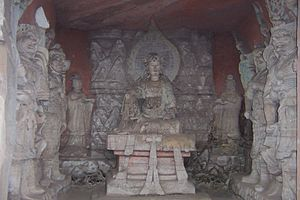 English: Dazu rock carvings, Bei Shan buddha