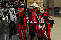 Deadpools, Spidey and Black Cat - C2E2 2015 (17280763031).jpg