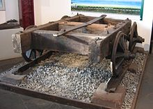 Wagon and track of a Dean Forest plateway