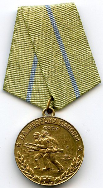 """Medal """"For the Defence of Odessa"""" - Image: Defence of Odessa OBVERSE"""