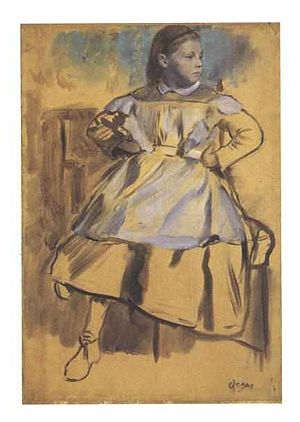 The Bellelli Family - Oil sketch of Giulia.