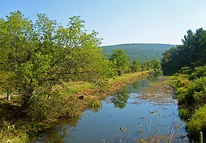 U.S. Route 209 - The Delaware and Hudson Canal, seen from the highway here in New York's Sullivan County.