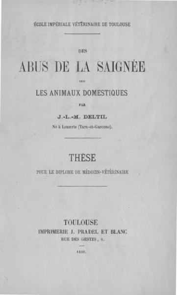 File:Deltil - Des abus de la saignée chez les animaux domestiques.djvu