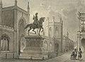 Den Haag, Gotische galerij met ruiterstandbeeld door Ludwig Rohbock.jpg
