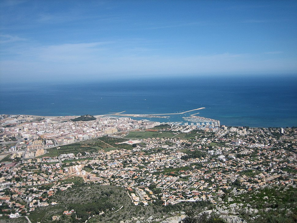 View of Dénia from the Montgó out to sea