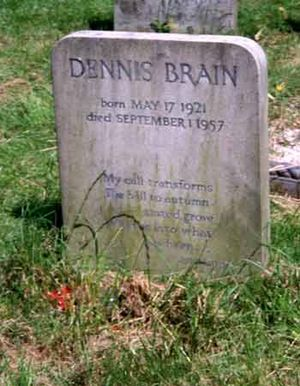Dennis Brain - Brain's grave in London