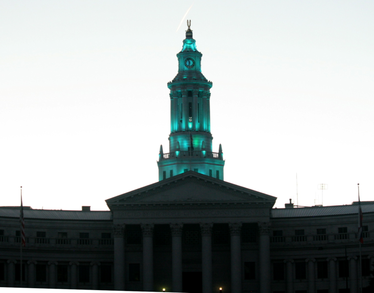 File:Denver City and County building blue lit dome.png