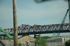 Interstate 80 bridge over the Des Plaines Rive...