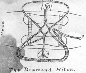 Diamond hitch - Image: Diamond hitch