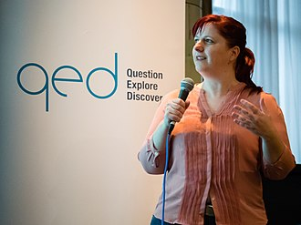 COMCEPT - Diana Barbosa speaks at Question, Explore, Discover 2015 in Manchester.