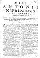 Dictionarium Aelii Antonii Nebrisensis 1764 tp02.jpg