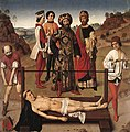 Dieric Bouts - Martyrdom of St Erasmus (central panel) - WGA02985.jpg