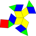 Diminished rhombic dodecahedron net.png