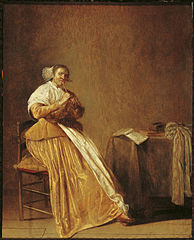 Woman playing a flute