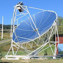 Centrale solaire thermodynamique wikip dia for Miroir solaire parabolique