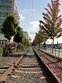 Disused Waterfront Streetcar tracks at Blanchard Street.jpg