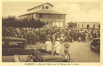 French Somaliland in World War II - Italian supply convoy in Djibouti, c. 1936–38