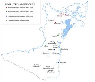 Dobrujan Germans - German colonies in Dobruja