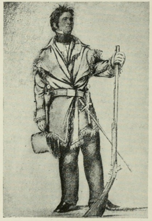 1st Cavalry Regiment (United States) - George Catlin sketch of Colonel Henry Dodge, commander of the United States Regiment of Dragoons, circa 1834.