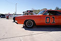 Dodge Charger 1969 RT General Lee Dodge Monaco 1977 Roscoe P Coltrane Dukes LFronts TBS 09Feb2014 (14586341515).jpg