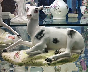 Derby Porcelain - A Doe made from Derby porcelain in the 1750s.