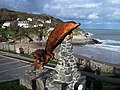 Dolphin statue, Aberporth - geograph.org.uk - 359125.jpg