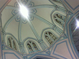 Our Lady of Lourdes Metropolitan Cathedral - Image: Dome (internal view), Our Lady of Lourdes Metropolitan Cathedral, Thrissur, India