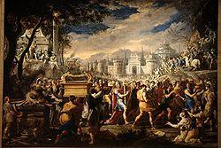 Forbundsarkerne indføres i Jerusalem ifølge 1 Kor 15.