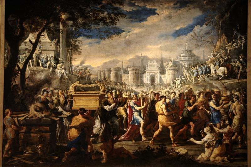 Domenico Gargiulo David bearing the ark of testament into Jerusalem