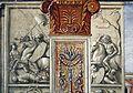 Domenico ghirlandaio, monocromi della cappella tornabuoni (visitazione e annuncio a zaccaria), 1485-90, 02.jpg
